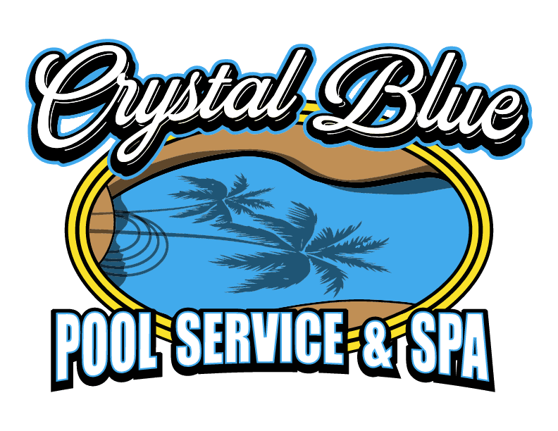 Crystal blue pool service logo
