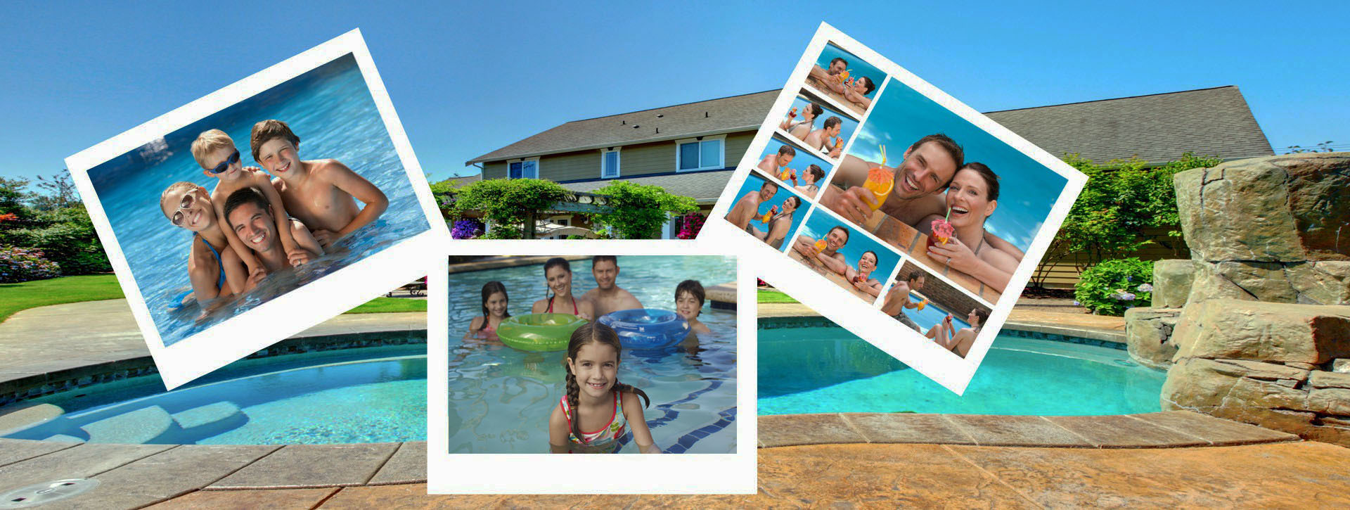 family having fun in swimming pool Visalia